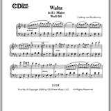 Print and download Waltz WoO 84 in E Major sheet music in pdf. Learn how to play Ludwig van Beethoven songs for Piano online